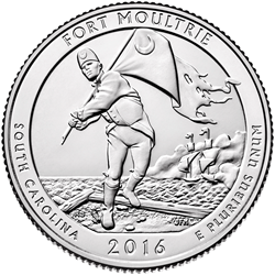 Fort Moultrie (Fort Sumter National Monument Quarter