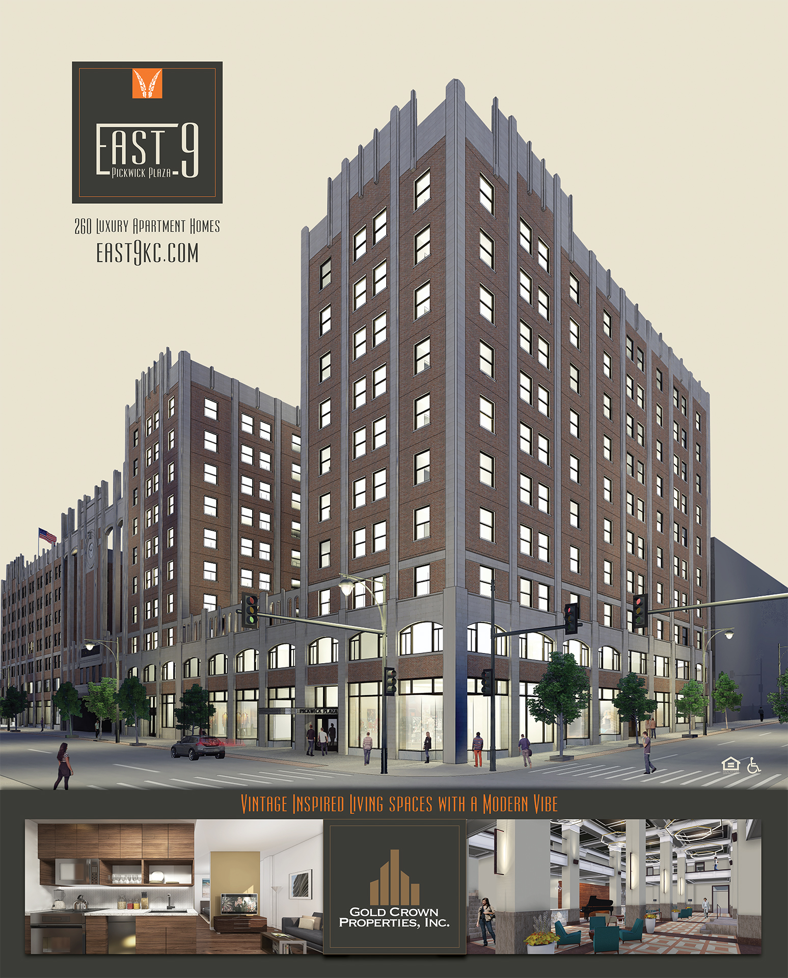 East 9 At Pickwick Plaza Announces Downtown Kansas City's
