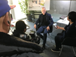 A Chinese camera team interviews sustainable architect Wolfgang Frey of the Frey Group at his firm in Freiburg, Germany
