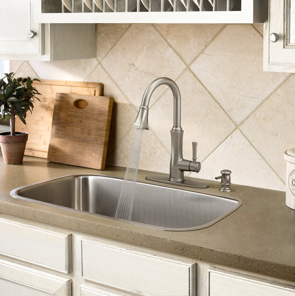 New Moen® Faucets at Lowe\'s Offer On-Trend Designs While Minimizing ...
