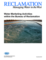 Water Marketing Activities within the Bureau of Reclamation Report Cover