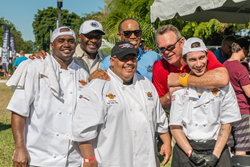 Former Dolphins Players: OJ McDuffie and John Offerdahl at the Gridiron Grill-Off