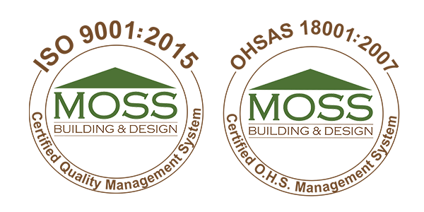 Moss Building And Design Achieves Iso 9001 2017 Ohsas 18001 2007 Certifications