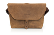 Maverick Leather Laptop Messenger—grizzly brown leather