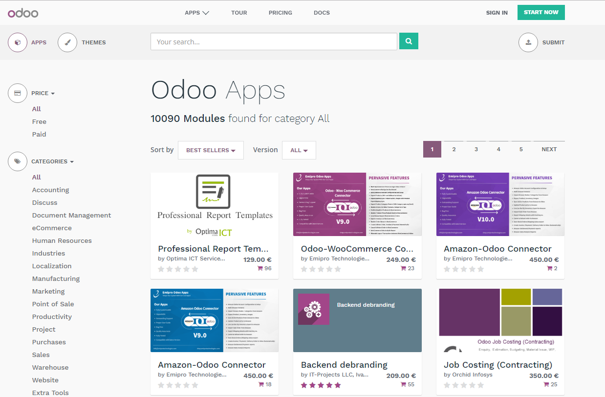 Odoo App Store reaches 10,000 Apps