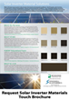 Samples of Gasket Materials for Solar Inverters and Enclosures for Energy Monitoring are Now Available on a Touch Brochure from Stockwell Elastomerics
