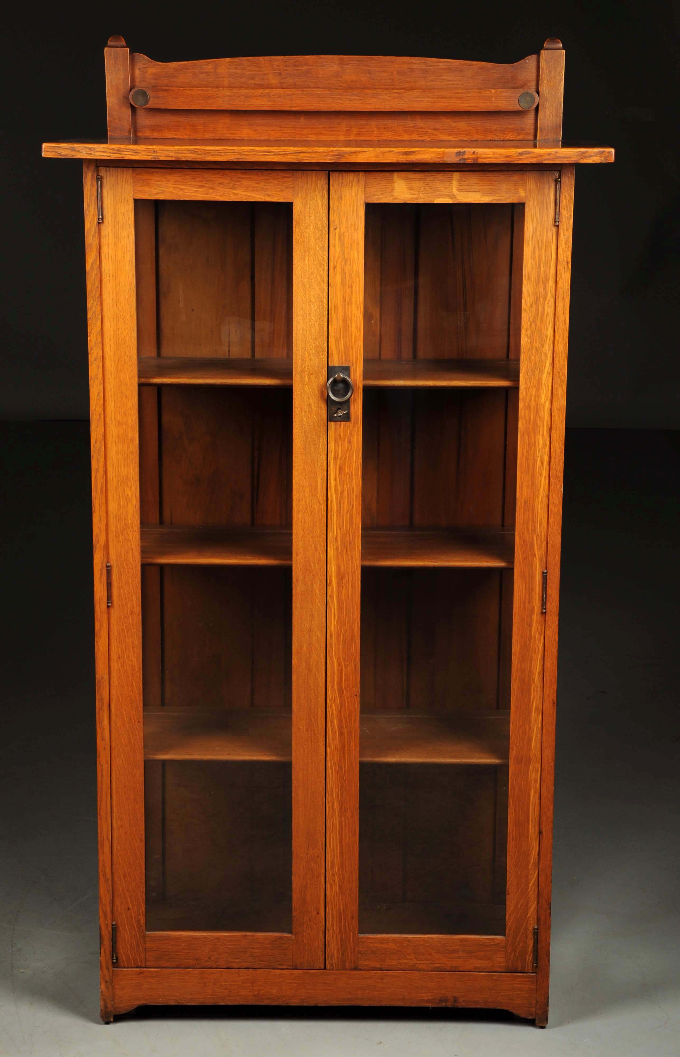 Stickley Brothers Single Door China Cabinet, Estimated At $1,200 1,800.