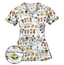 Create A World Scrub Top