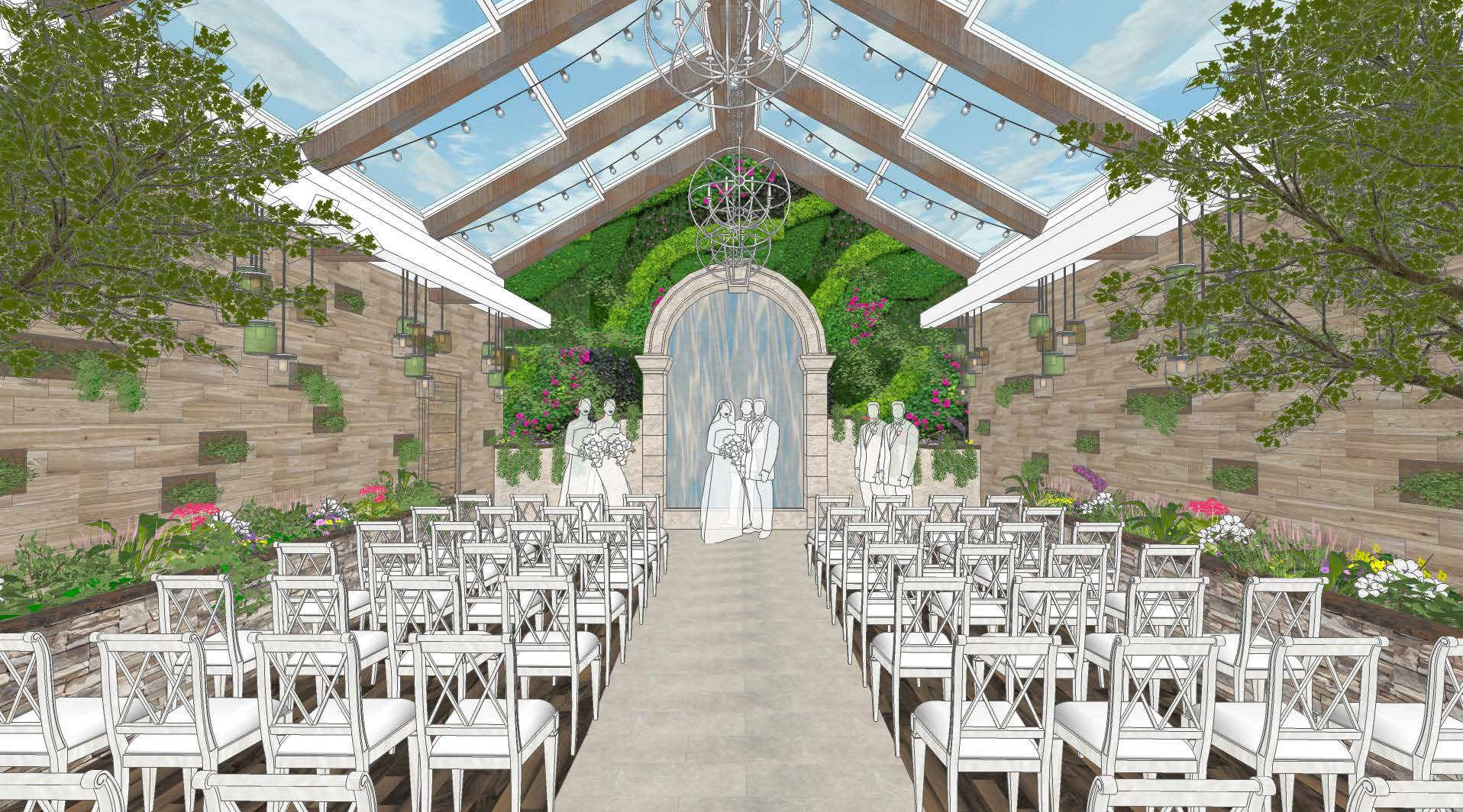 Chapel Of The Flowers New Gl Gardens Venue In Las Vegas