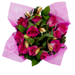 Bella Rosa Bouquet Dark Pink
