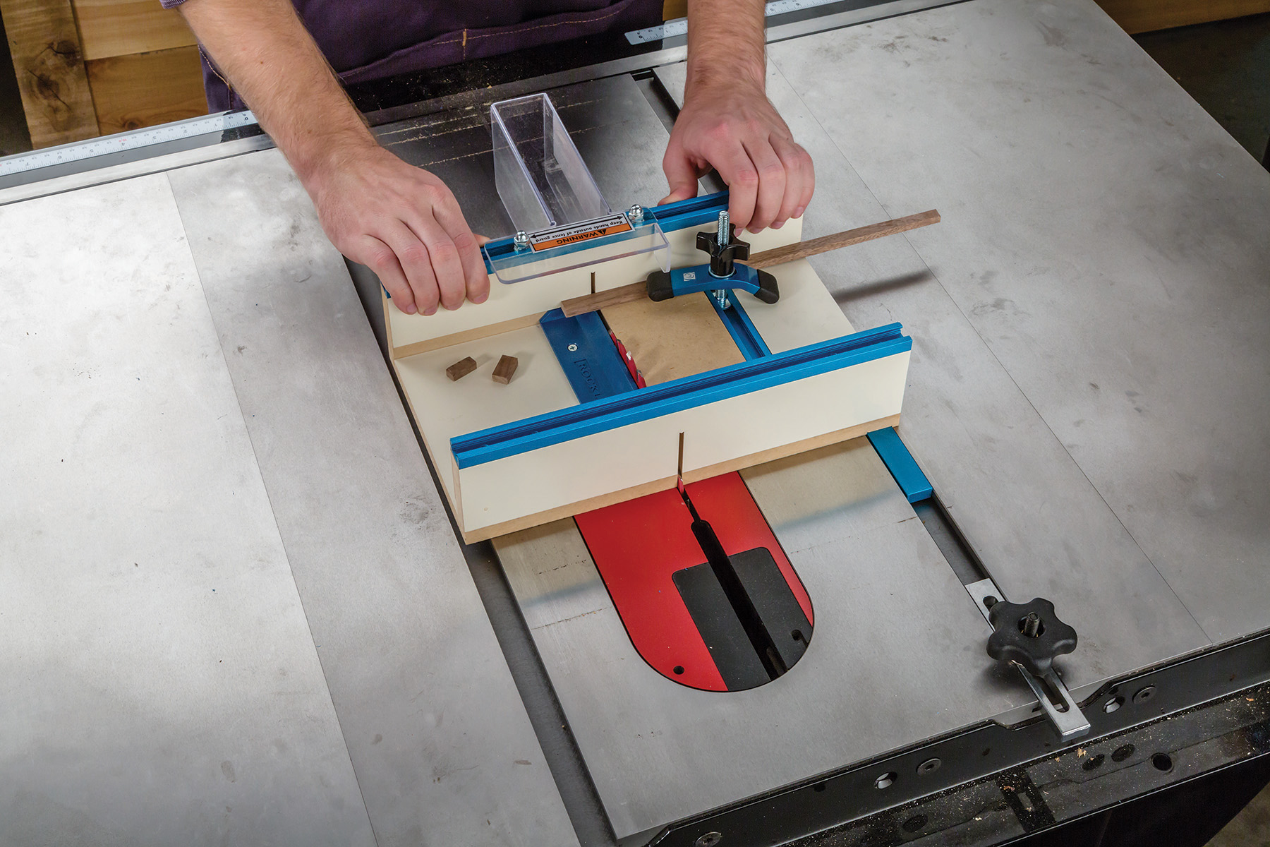 The Rockler Table Saw Small Parts Sled Provides Zero Clearance Support For  Small Workpieces, And Has A Drop Off Ramp That Allows Cut Pieces To Gently  Fall ...