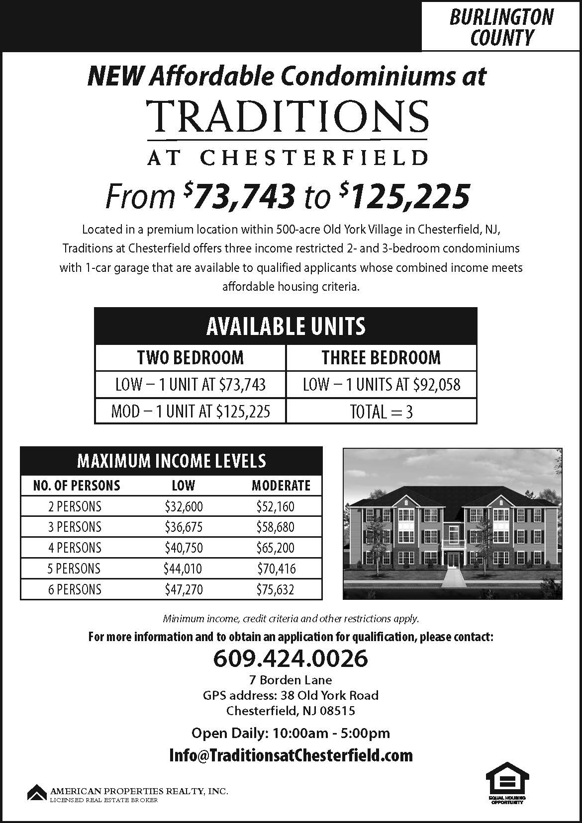 New Affordable Condominiums Now Available at Traditions at Chesterfield