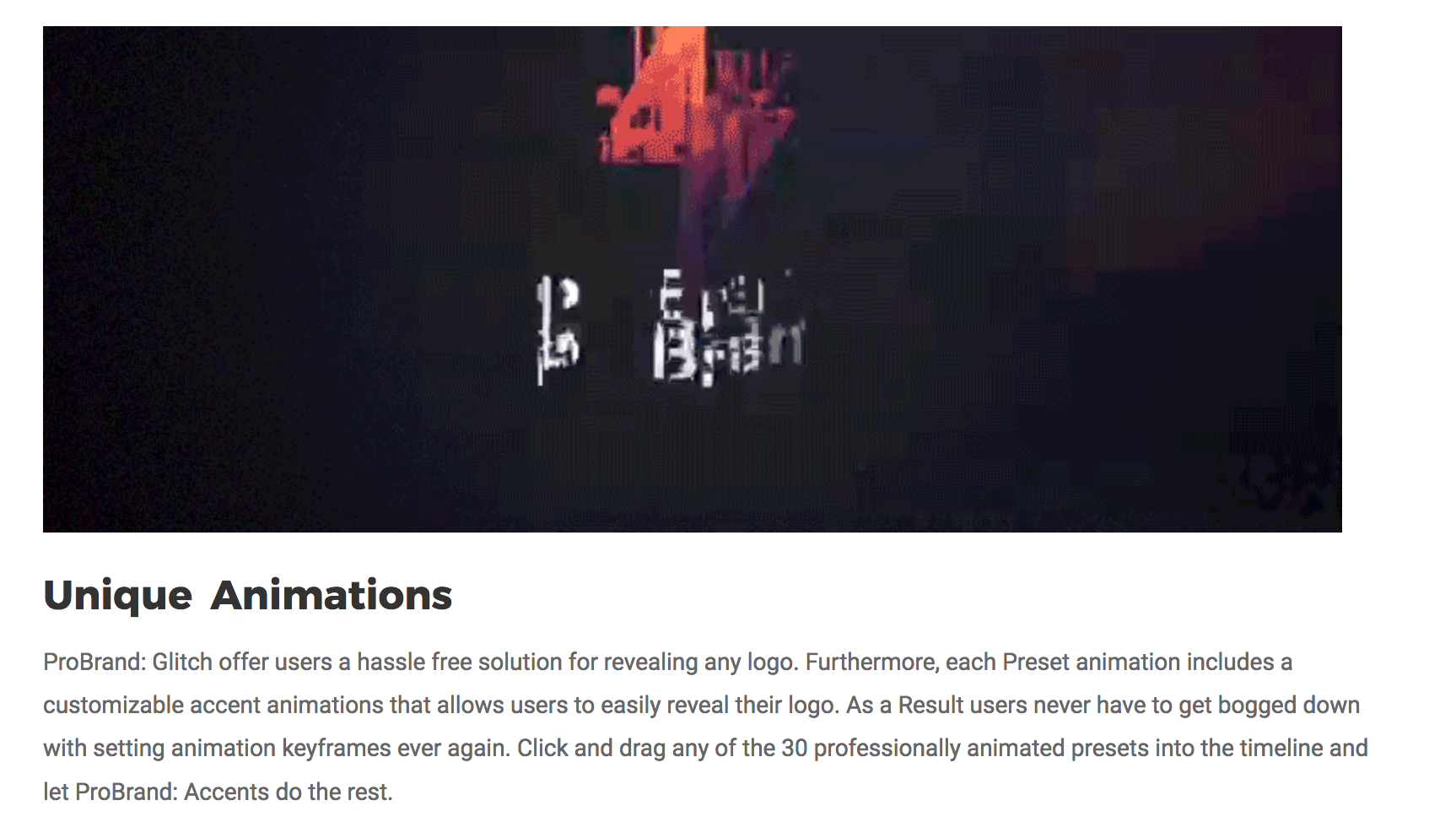 ProBrand Glitch, a New FCPX Plugin, was Released by Pixel
