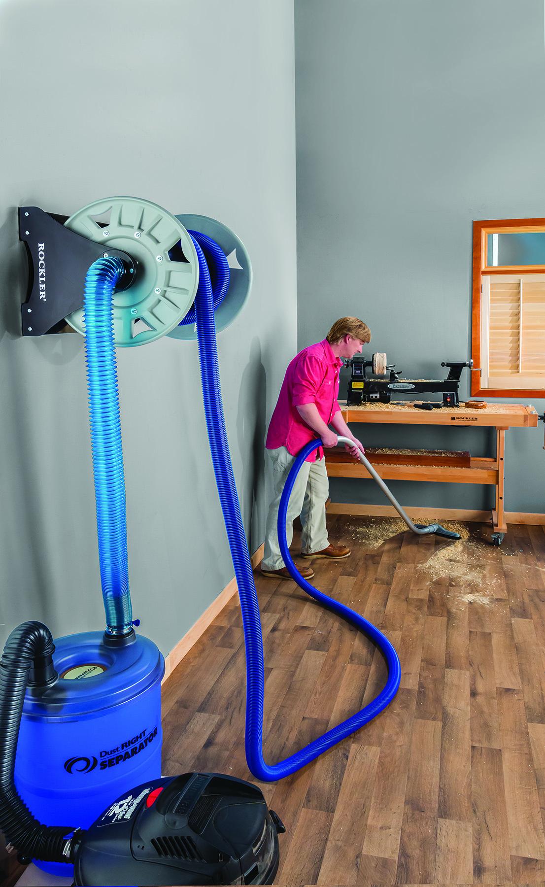 Rockler Introduces Shop Vacuum Hose Reel Easily Unwinds