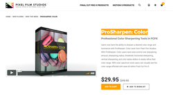 ProSharpen Color was Released by Pixel Film Studios for FCPX