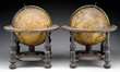 Pair of Celestial and Terrestrial Globes by John Senex Realized $51,425.