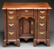 Queen Anne Transitional Mahogany Blockfront Bureau Table Realized $29,040.