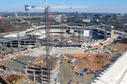 The Atlanta Braves' new home stands as one of the fastest construction projects in Major League Baseball's history, second only to Nationals Park in Washington, D.C.