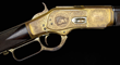 Lot 1034:  Exceedingly Rare, John Ulrich Engraved Gold and Nickel Finish Winchester Model 1873 1 of 1000 of Argentine Businessman Don Eduardo Casey, $75,000-125,000.