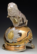 Lot 1500:  Royal Saxon Guard Rider Officer's Helmet with Silver Parade Lion, $25,000-35,000.