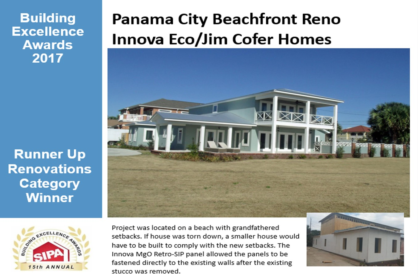 Innova Eco Building System Is A 2017 Sipa Building