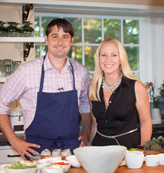 New England Living Host Parker Kelley and Earth Executive Chef Justin Walker