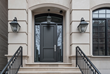 Transitional Mahogany Front Door with Espresso Finish – N. Burling St., Chicago