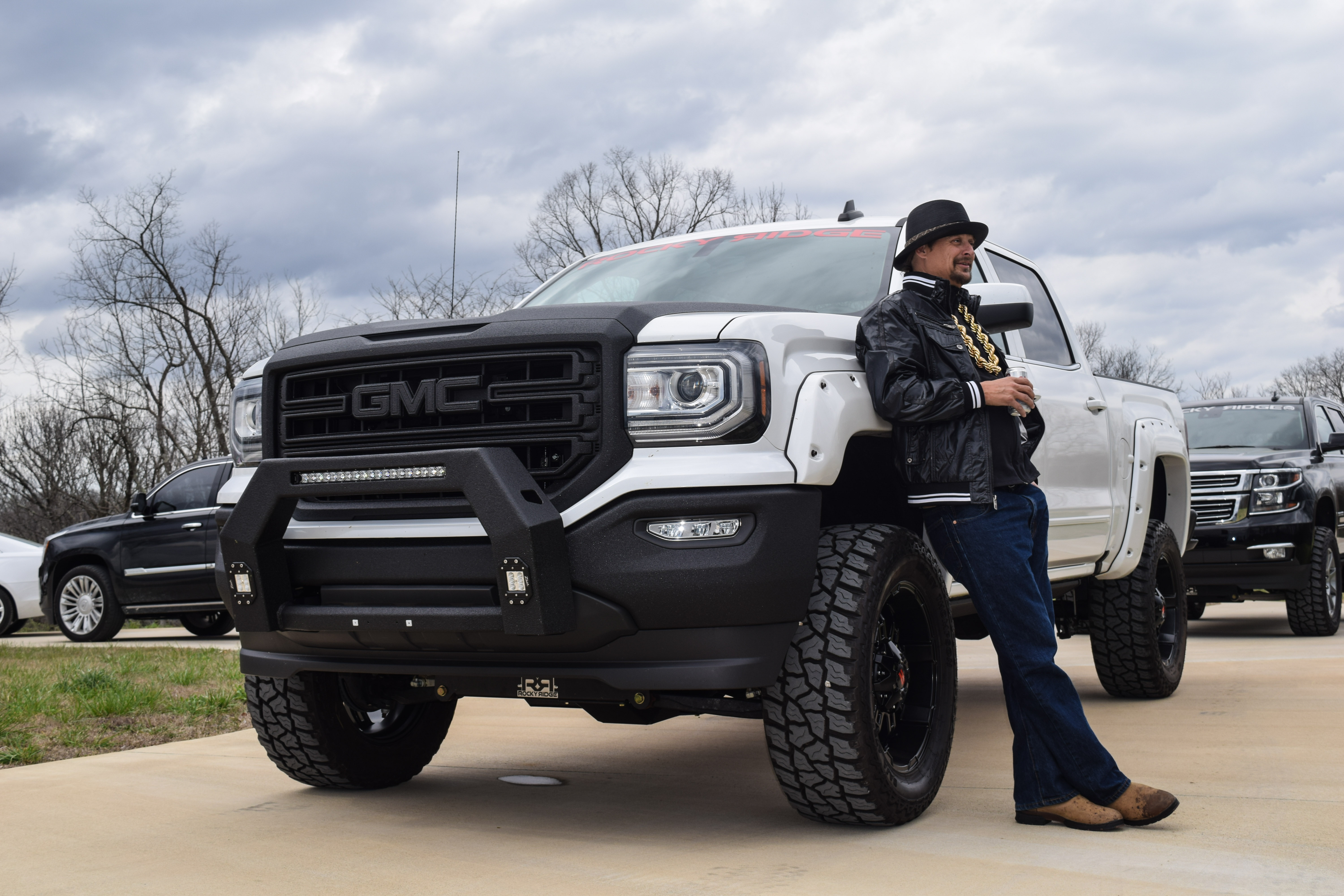 Kid Rock Receives Custom Built Rocky Ridge GMC Sierra ...