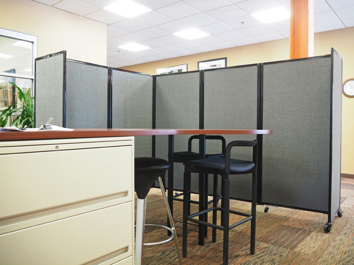 office space divider. Versare Room Divider 360 Separates Office Space L