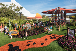 Landscape Structures playground equipment featured at the EPCOT® International Flower & Garden Festival