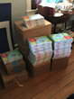 Copies of The Lorax ready for delivery