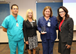 Jeff Arrendale, Manager, Respiratory Services, Lisa Stephen, Senior Account Manager, Advanced ICU Care, Lynn Brunk, Director Critical Care Unit and Progressive Care Unit and Tricia Williams