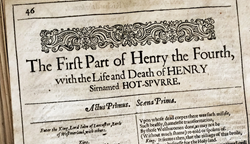 Sale of 1632 Folio to Benefit K-12 Shakespeare Education Programs