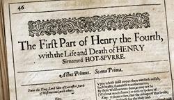 Sale of 1632 Folio to Benefit K-12 Shakespeare Education Programs