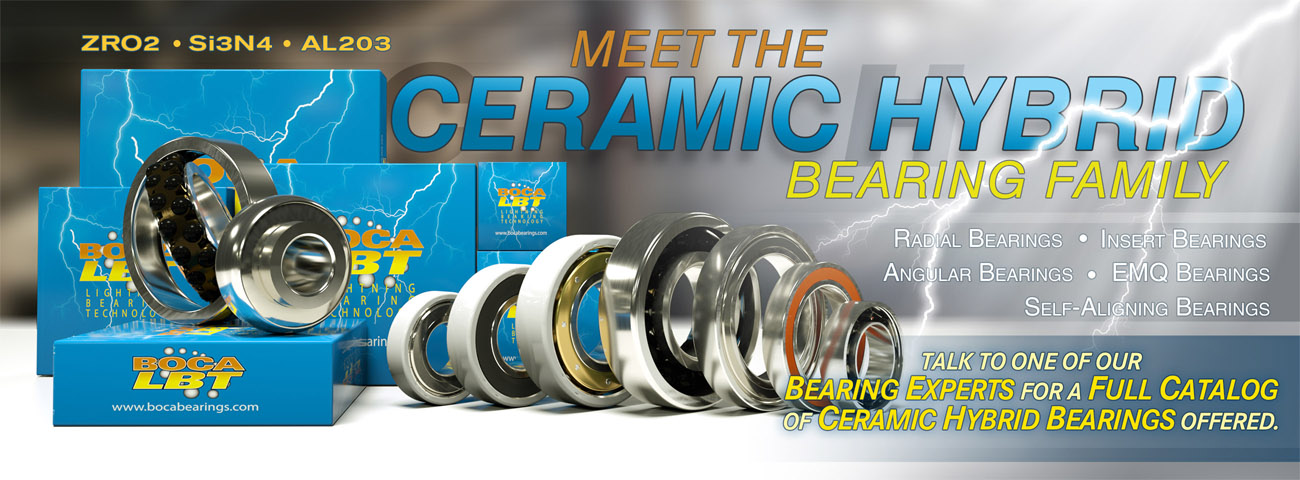 New and Expanded Inventory of Ceramic Hybrid Bearings
