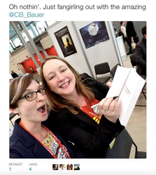 Pic from Christina Bauer's signing at BEA. Her debut tour has been extended to ALA.