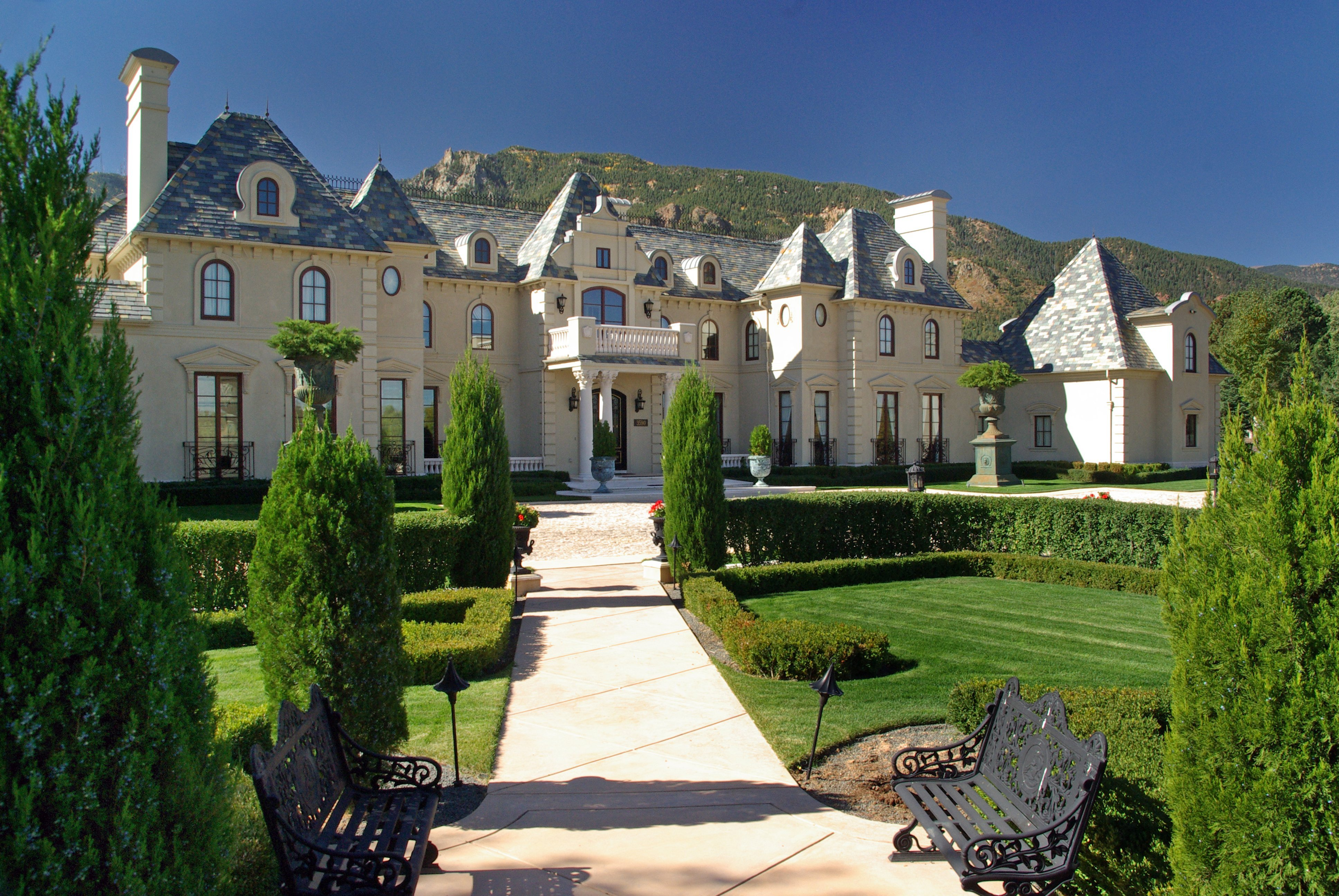 french chateau homes berkshire hathaway realtor trish ingels lists chic colorado springs chateau 8551