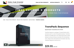 FCPX Effects and Plugins - TransPack Sequence - Pixel Film Studios effects and Plugins