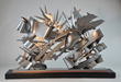 Albert Paley - Double-Cross, 2014, stainless steel, 36 x 53 x 21 inches