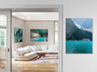Consumers can choose from any substrates to add interest and dimension to photos. Mounting under acrylic glass adds depth and style to almost any photo or subject.