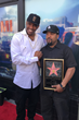 Rashad McCants and Ice Cube during Ice Cube's Hollywood's Walk of Fame honor on June 12, 2017