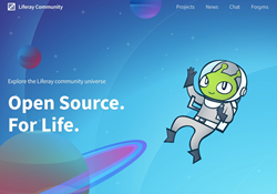 Screenshot of the Liferay Community Site