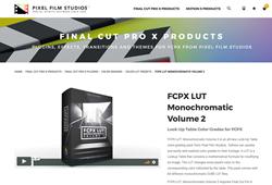 FCPX LUT Monochromatic Volume 2 was released by Pixel Film Studios