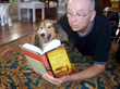 Paul Alan Fahey reads his new book to his sheltie Maddie