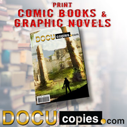 DocuCopies now prints comic books and graphic novels for self publishing authors and artists.