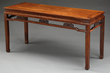 Huanghuali and Hardwood Corner Leg Side Table realized $33,880.
