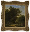 "Barend Cornelis Koekkoek's ""Traveler In a Forest Landscape"" realized $19,360."