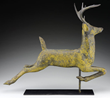 Leaping Stag Copper Weathervane, Probably Cushing & White realized $18,150.