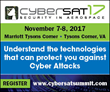 Via Satellite announces their Key Speakers for their Fall CyberSat 2017 Event
