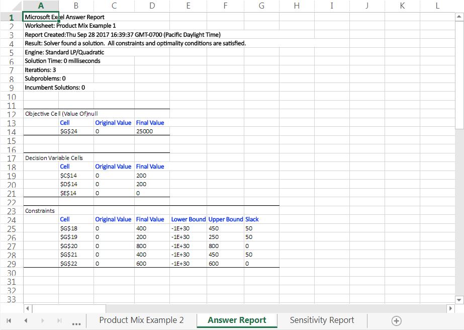 Excel solver software